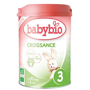 Lait infantile Croissance de Babybio