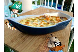 Petit bateau saumon poireaux