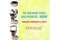 Le test du porte-bébé Smart Hipseat 3 en 1 de Pognae