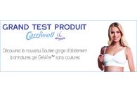 Test du soutien-gorge d'allaitement avec armatures en gel Carriwell