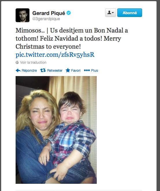 Shakira & Milan qui grimacent en selfie