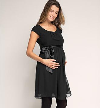 Robe noire esprit maternity enceinte