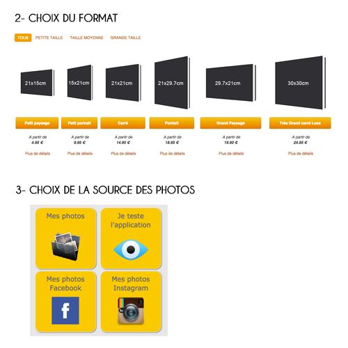Image choix format