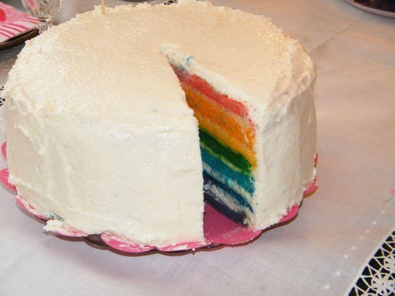 Rainbow cake 1 an