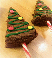 brownie sapin de noël