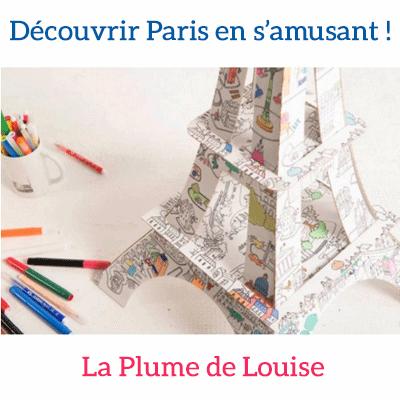 La Tour Eiffel à colorier de La Plume de Louise