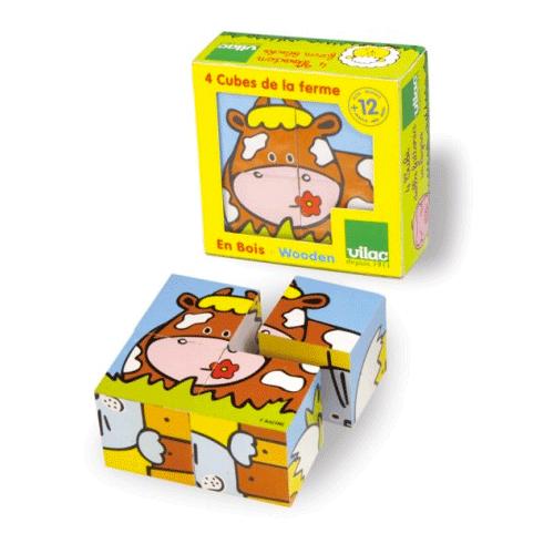 4 Cubes de la ferme