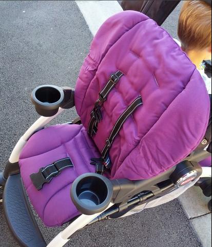 Avec le coussin super moelleux que tu peux prendre en plus (violet hein, je suis rien qu'une fille)