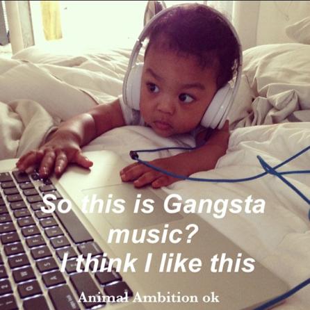 """""""C'est donc ça, de la musique gangsta ? Je crois que ça me plaît"""""""
