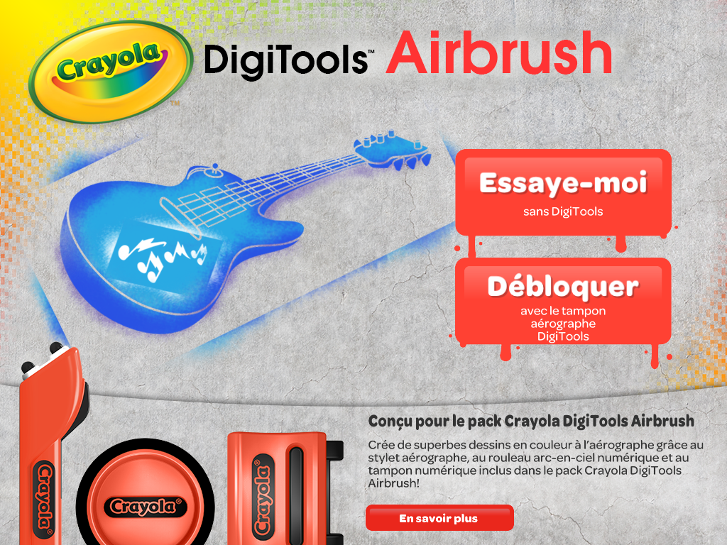 L'application Digitools Airbrush