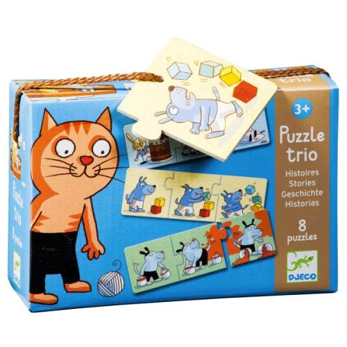 Un coffret de 8 puzzle de Djeco!