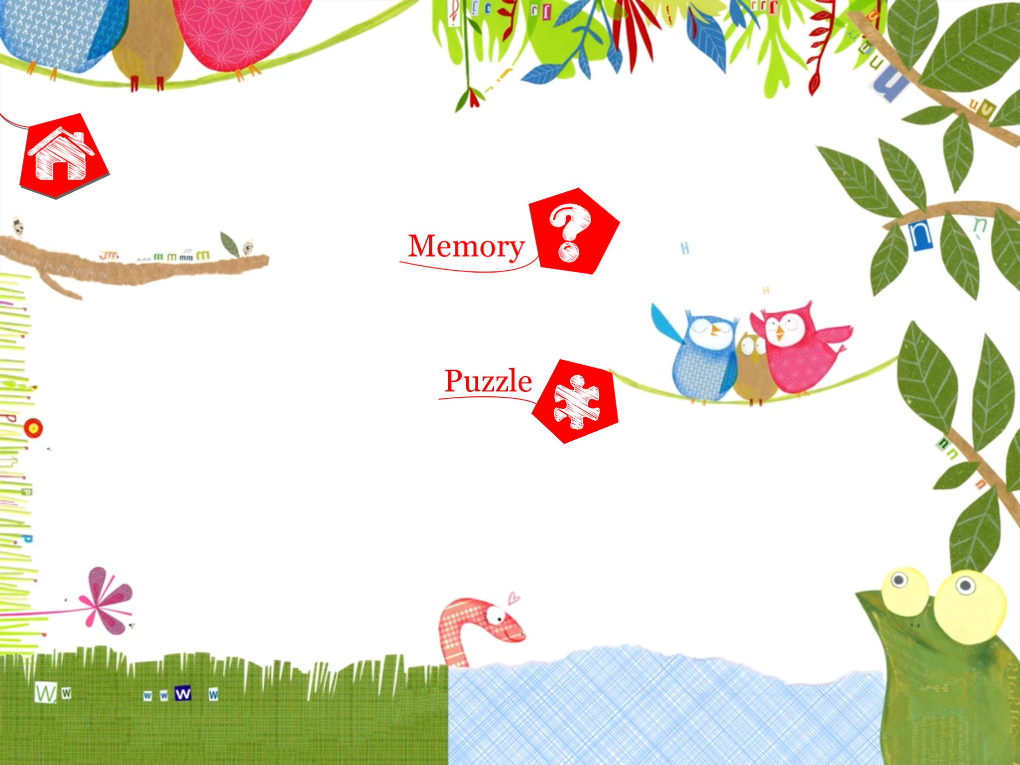 Le menu des jeux !