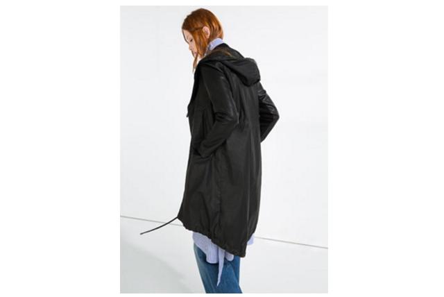 Longue Parka noire Zara
