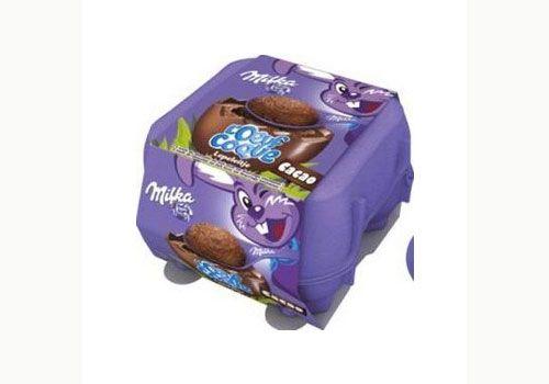 Oeufs de chocolat fourrés de Milka