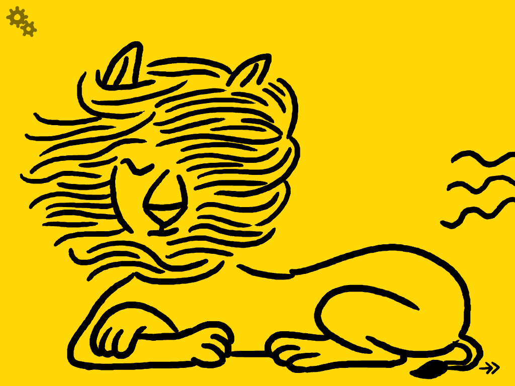 Le brushing du lion !