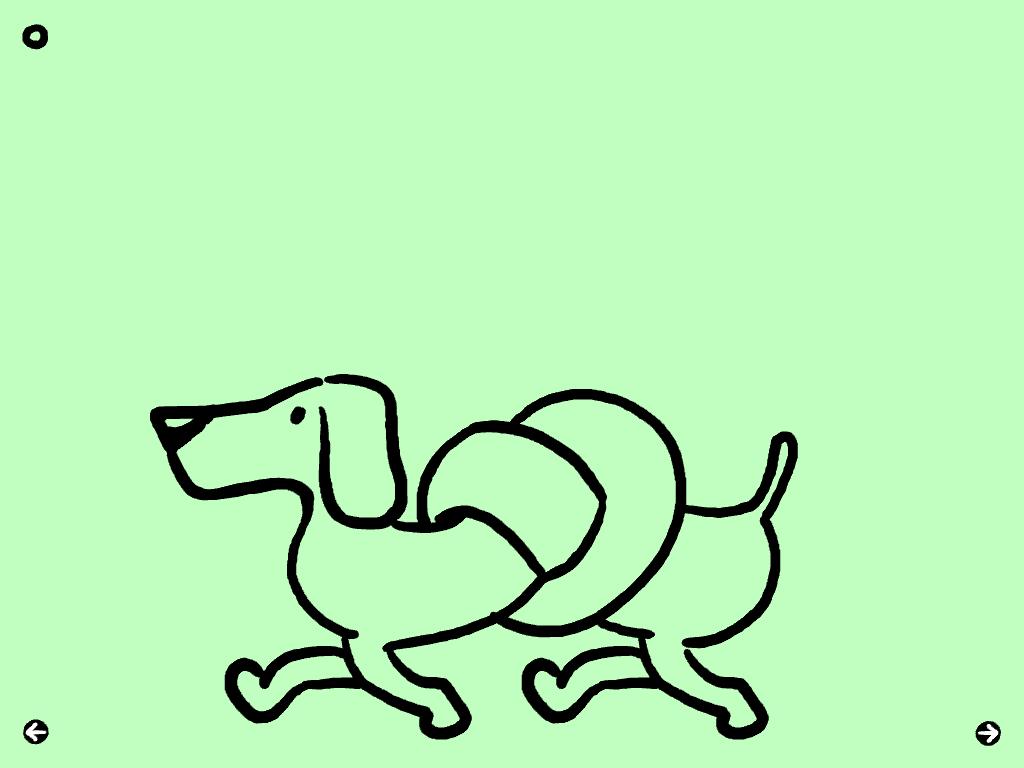 Le chien s'emmèle