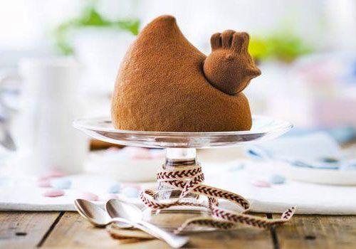 Poule pâtissière chocolat praliné de Picard