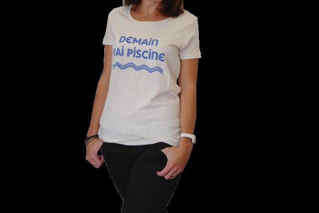 Le T-SHIRT Demain j'ai piscine