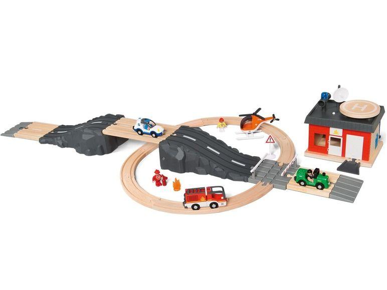 Set de rails et de routes en bois