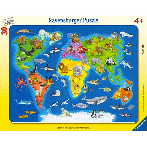 Un puzzle pour découvrir les animaux du monde !