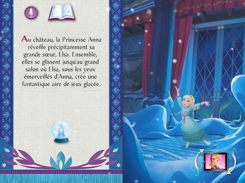 Application La Reine des Neiges deux livres en un Avis