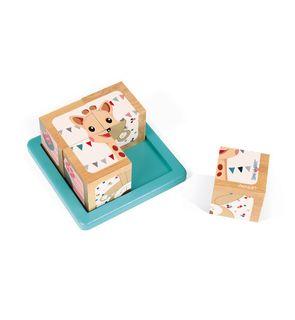Barquette 4 cubes Sophie la girafe