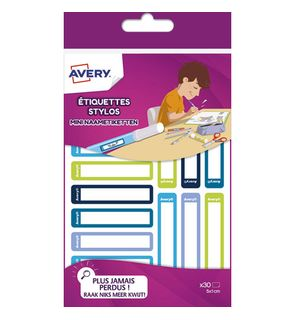 étiquettes stylos Avery