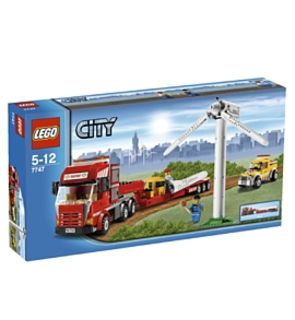 Le transport de l'éolienne lego city