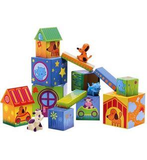 Cubes de construction animaux Djeco