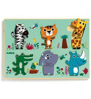 Encastrement puzzle coucou jungle