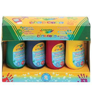 4 bidons de peinture aux doigts lavable Crayola