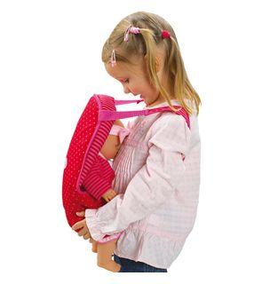 Porte-bébé fuchsia pour poupée