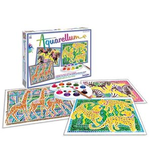 Aquarellum Zèbre, girafes, panthères