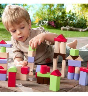 Baril 100 cubes en bois