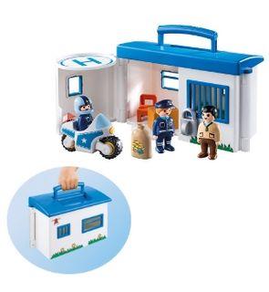 Commissariat de police 1.2.3 transportable de Playmobil