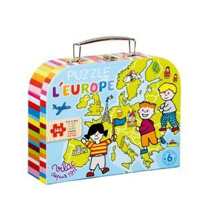 Puzzle carte d'Europe en valisette 144 pièces