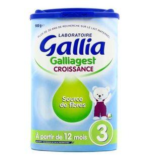 Lait en poudre 3ème âge : Galliagest croissance