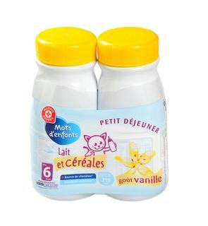 Lait et céréales goût vanille