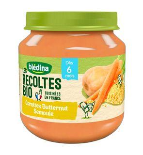 Les récoltes bio carottes butternut semoule 2x130g