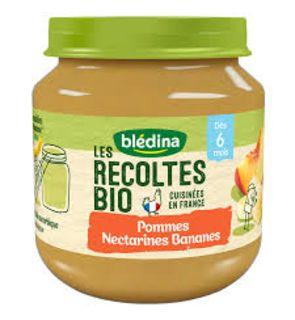 Blédina Les Récoltes Bio 2 Petits Pots Pommes Nectarines Bananes dès 6 mois 2 x 130 g