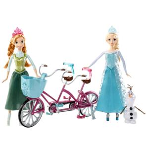 Anna et Elsa à vélo - La Reine des Neige