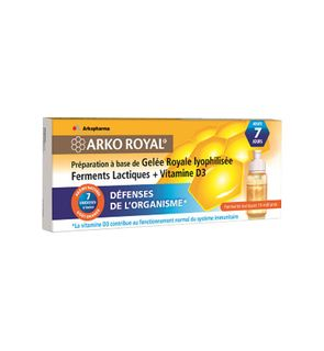Arko royal gelée royale + Ferments lactiques + Vitamine D3