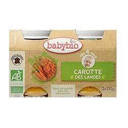Petit pot légumes Bio pour bébé : Carotte des landes
