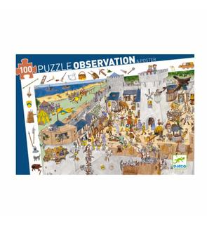 Puzzle château fort découverte 100 pièces