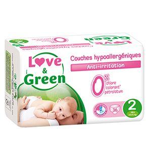Couches Hypoallergéniques 0% Taille 2 - 3 à 6 kgs