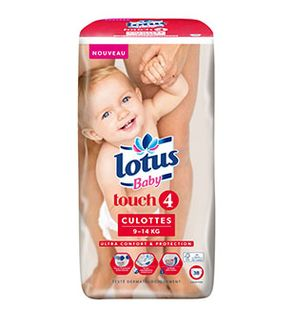 Culottes Lotus Baby Touch T4 (9-14 KG) x38