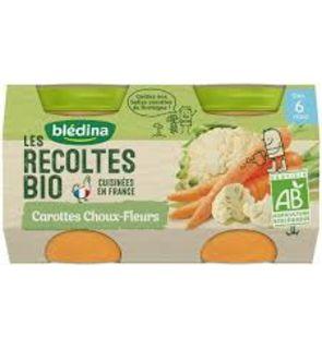Petits pots carottes choux-fleurs Les récoltes Bio - Dès 6 mois - 2 x 130 g