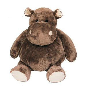 Peluche Hippo taupe