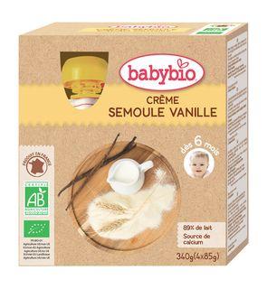 Gourdes crème, semoule, vanille