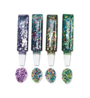 4 tubes de gel confettis creart CONFET-GLU